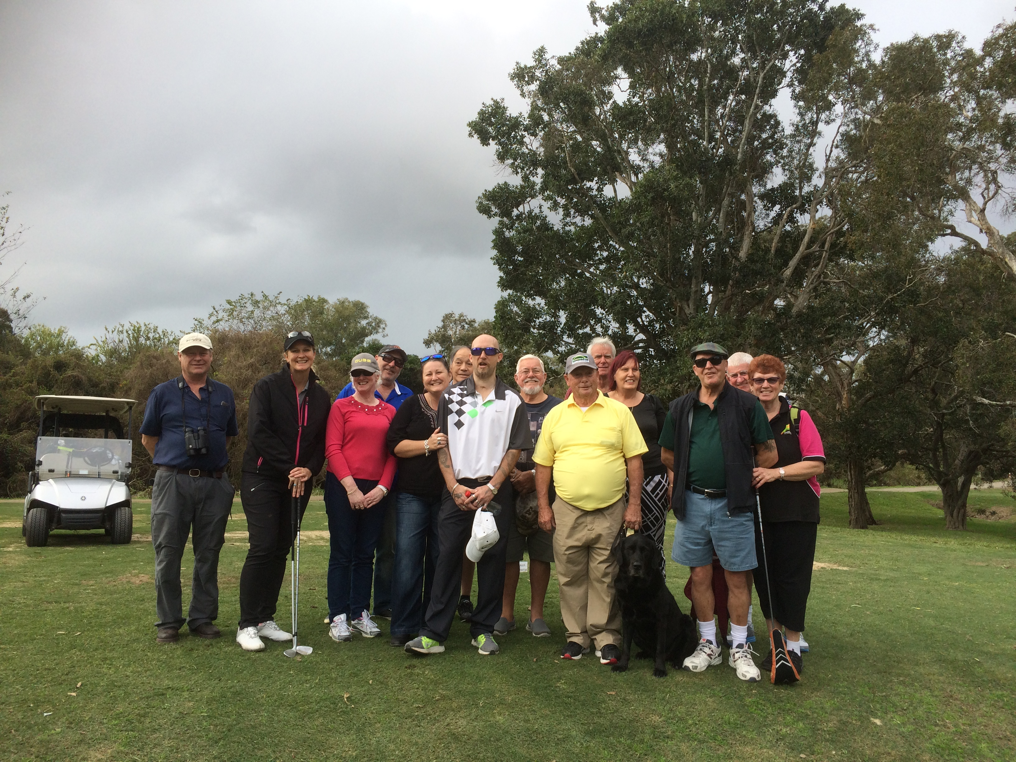 Come and Try Day Virginia Golf Club July 17 - some of the participants pictured with Kate Dunn LPGA. Event supported by Blind Sports Australia.