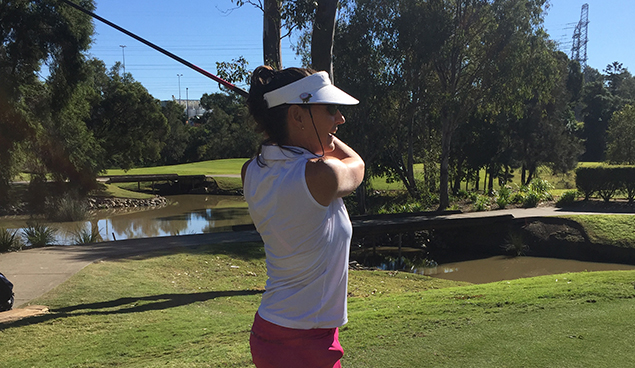 Raeann Shields playing golf at The Brisbane Golf Club